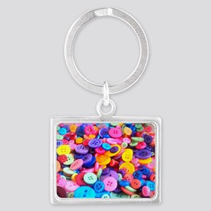 Buttons In Color Landscape Keychain