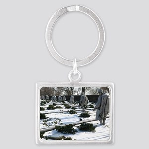 Korean war memorial veterans st Landscape Keychain