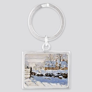 Claude Monet - The Magpie Landscape Keychain