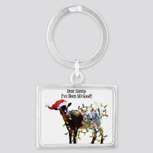 Christmas Goat I've Been So Good Keychains