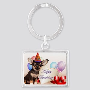 Happy Birthday Chihuahua dog Keychains