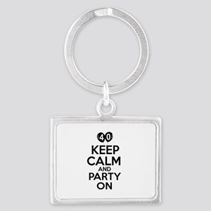Funny 40 year old gift ideas Landscape Keychain