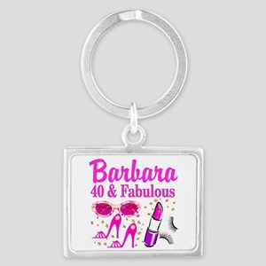40TH PARTY GIRL Landscape Keychain