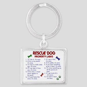 D RESCUE DOG PL2 Landscape Keychain