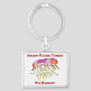 Ancient Psychic Tandem War Elep Landscape Keychain
