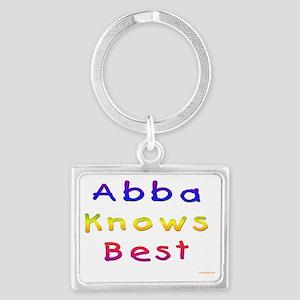 Abba Knows Best Landscape Keychain