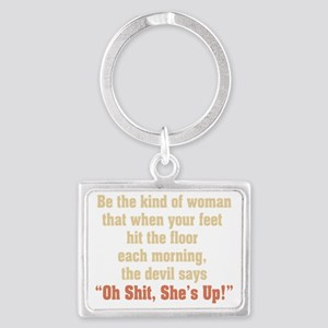 be the kind of woman Landscape Keychain