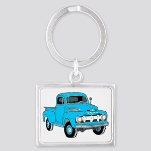 Old Truck Landscape Keychain