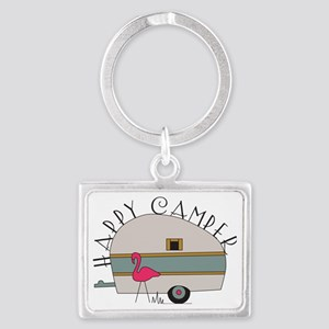 Happy Camper Landscape Keychain