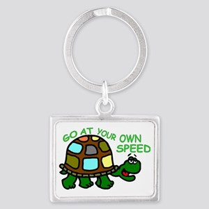 ownspeed14x21 Landscape Keychain