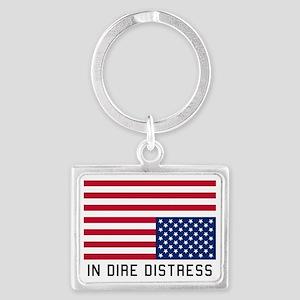 Upside Down Flag Distress Keychains