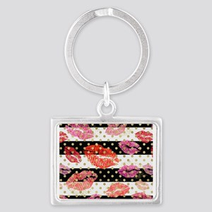 Horizontal Stripes & Watercolor Lips Keychains