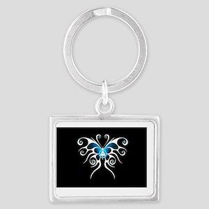 AA white butterfly Landscape Keychain