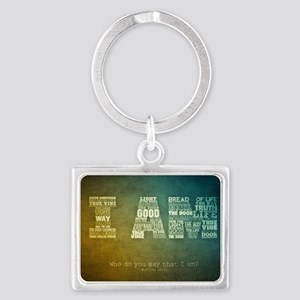 I AM Word Art Landscape Keychain