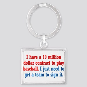 Baseball Contract Landscape Keychain