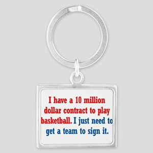 Basketball Contract Landscape Keychain
