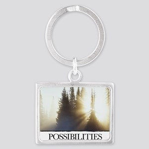 Inspirational Poster: The path  Landscape Keychain