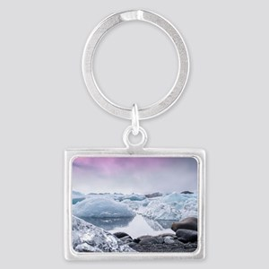 Glaciers of Iceland Landscape Keychain