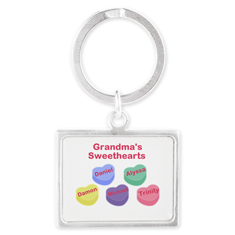 Custom Grand kids sweethearts Landscape Keychain
