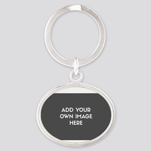 Add Your Own Image Oval Keychain