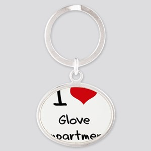 I Love Glove Compartmenst Oval Keychain