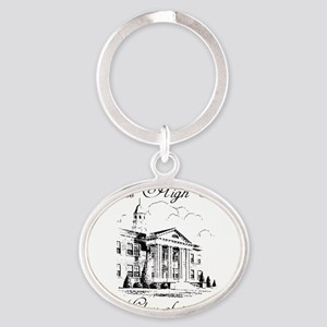 Landscape Card flattened Oval Keychain