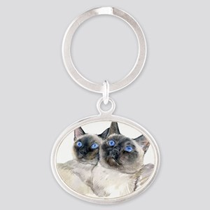 d46f1d97c2 Siamese Cats Keychains - CafePress