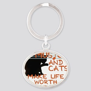 musicandcats Oval Keychain