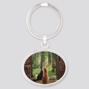 Doorway into Forever nc Oval Keychain