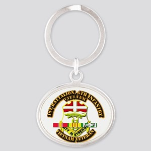 1st Battalion, 6th Infantry Oval Keychain