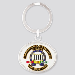 3rd Battalion, 7th Infantry Oval Keychain