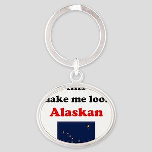 Alaskan L Oval Keychain