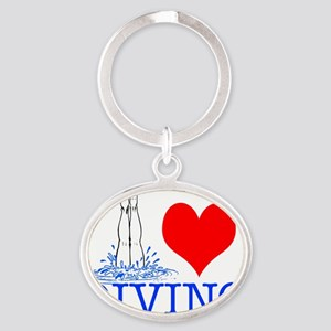 DIVINGsq Oval Keychain