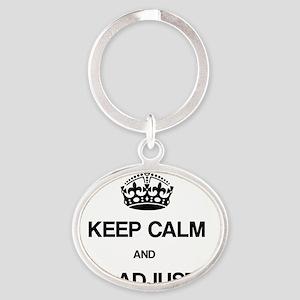 Keep Calm Chiro Oval Keychain