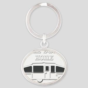 HomeSweetHomePopUpReverse Oval Keychain