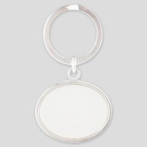 blahblahblah Oval Keychain