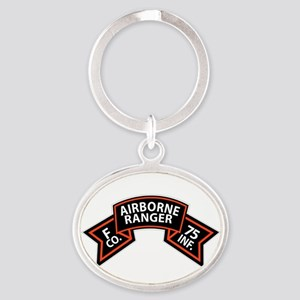 F Co 75th Infantry (Ranger) Scroll Oval Keychain