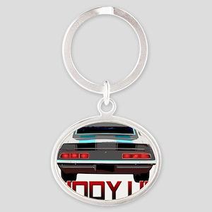 69 camaro - Getty Up copy Oval Keychain