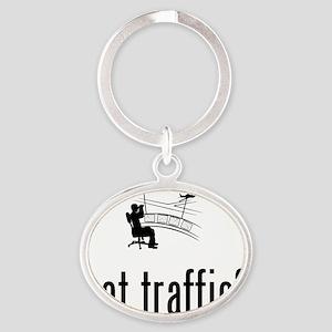 Air-Traffic-Controller-02-A Oval Keychain