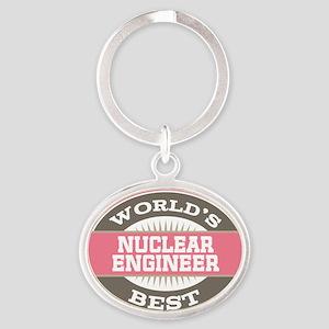 nuclear engineer Oval Keychain