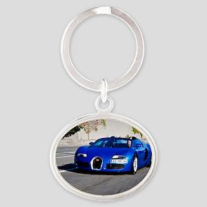 Bugatti10 Oval Keychain