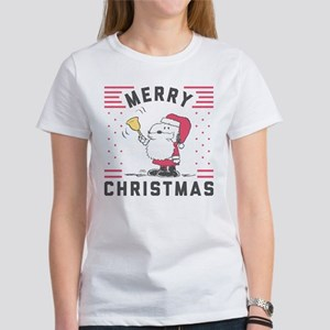 Peanuts Ugly Christm Women's Classic White T-Shirt