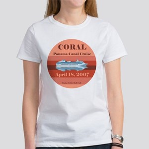 Coral Panama Canal 2007 Women's T-Shirt