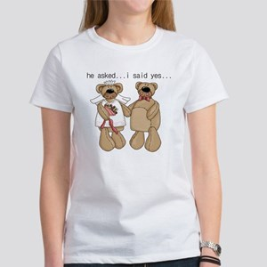 Bride and Groom Bear Women's T-Shirt