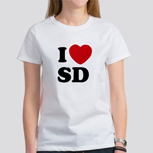I Love San Diego Women's T-Shirt