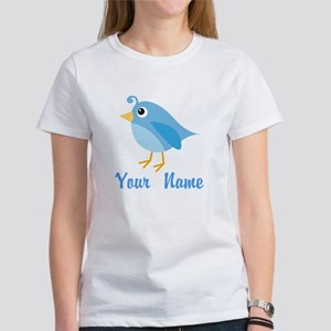 Personalized Blue Bird Women's T-Shirt