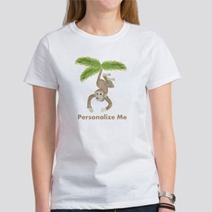Personalized Monkey Women's T-Shirt