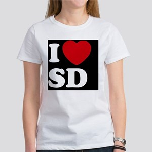 I Heart SD blackt Women's T-Shirt