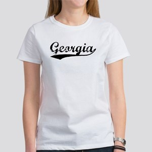 Vintage Georgia (Black) Women's T-Shirt