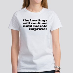 The Beatings Will Continue, Morale Women's T-Shirt